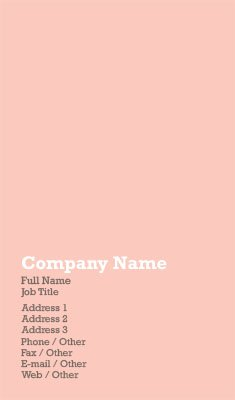 Light Pink Business Card Template